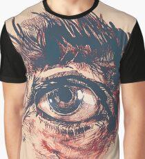 Hairy eyeball is watching you - Rötlich Grafik T-Shirt