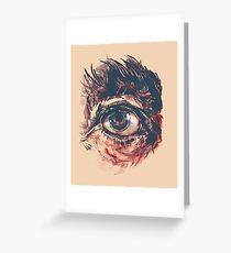 Hairy eyeball is watching you - Rötlich Grußkarte