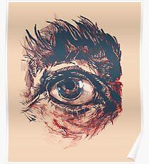 Hairy eyeball is watching you - Rötlich Poster