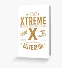 XTREME ELITE CLUB Greeting Card
