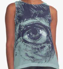 Hairy eyeball is watching you - Dunkelgrün Kontrast Top