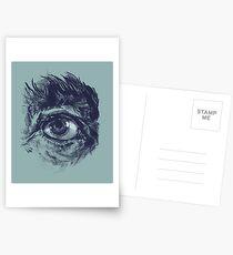 Hairy eyeball is watching you - Dunkelgrün Postkarten