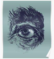 Hairy eyeball is watching you - Dunkelgrün Poster