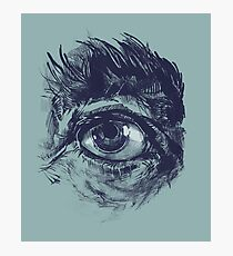 Hairy eyeball is watching you - Dunkelgrün Fotodruck