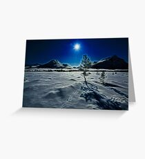 Cold moon Greeting Card
