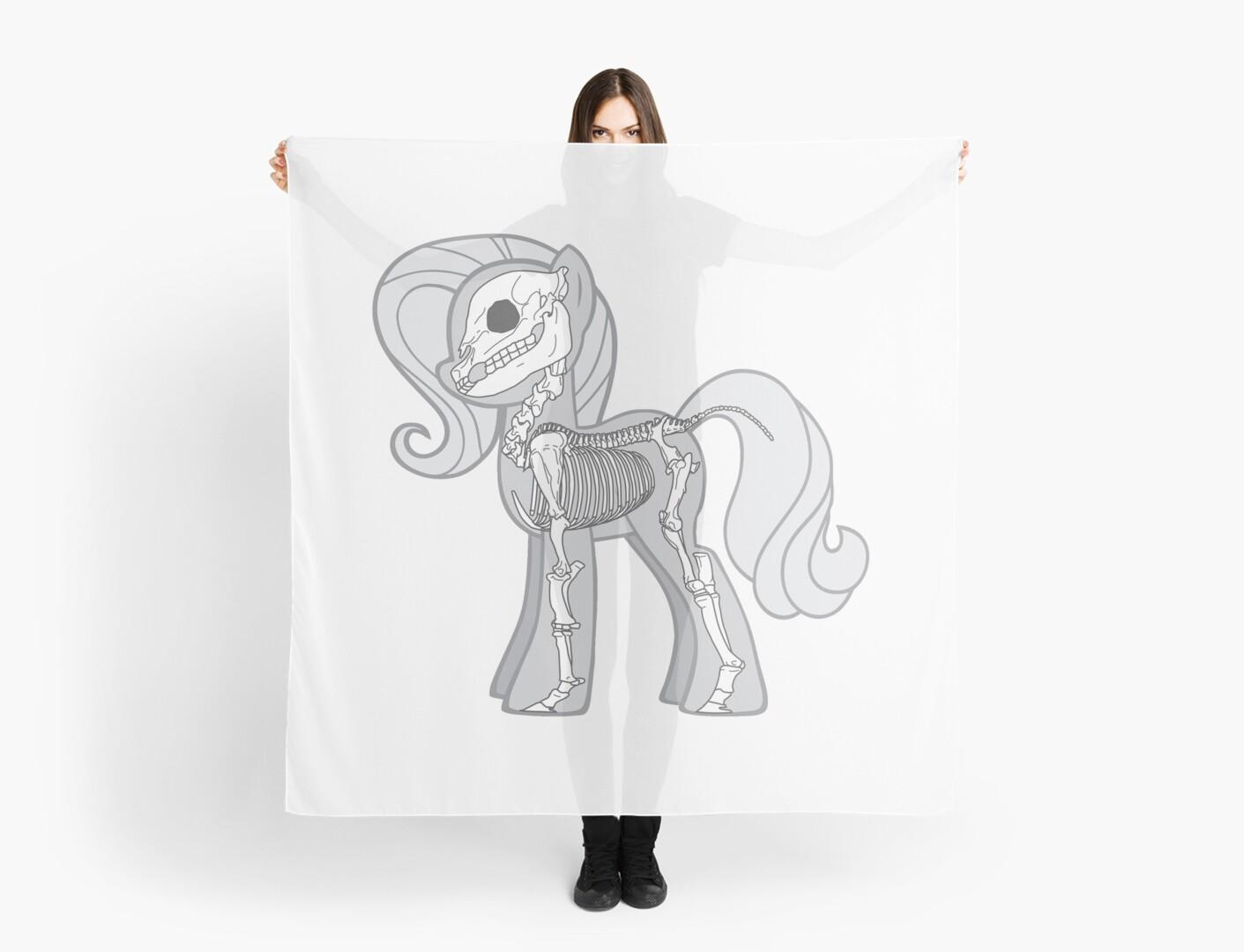Pañuelos «Mi pequeño esqueleto: Earth Pony» de er3733 | Redbubble