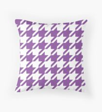 Wisteria Houndstooth Pattern Throw Pillow