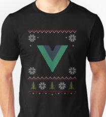 Vue JS Vue.js JavaScript Framework Ugly Sweater Christmas T-Shirt