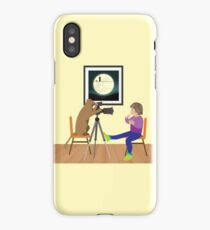 Girl behind the lens iPhone Case/Skin