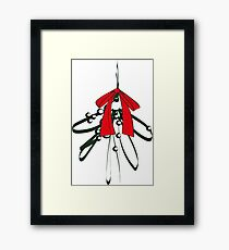 Mistletoe with Red Bow Framed Print