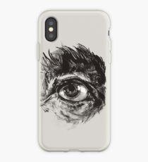 Hairy eyeball is watching you - warm grau iPhone-Hülle & Cover