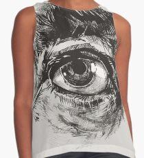 Hairy eyeball is watching you - warm grau Kontrast Top