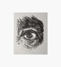 Hairy eyeball is watching you - warm grau Galeriedruck