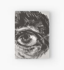 Hairy eyeball is watching you - warm grau Notizbuch