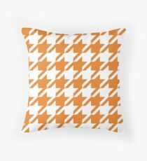 Carrot Houndstooth Pattern Throw Pillow