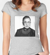 RBG Dissent Collar Ruther Bader Ginsburg Women's Fitted Scoop T-Shirt