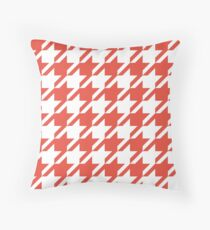 Alazarin Houndstooth Pattern Throw Pillow