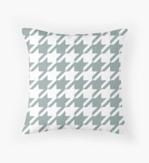 Concrete Houndstooth Pattern Throw Pillow
