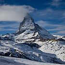 The Matterhorn from Zermatt by Steve plowman