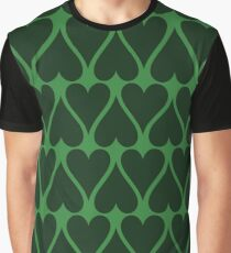 Green hearts.  Graphic T-Shirt