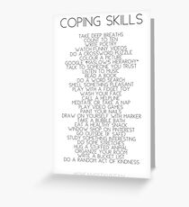 Coping Skills Greeting Card