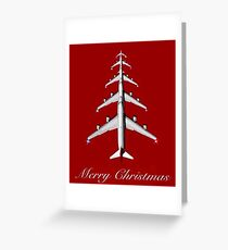 Merrry Christmas Aviation Airplane Aviation Gift Greeting Card