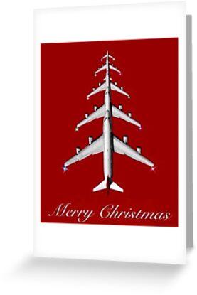 merrry christmas aviation airplane aviation gift by rodrigoafonso - Aviation Christmas Cards
