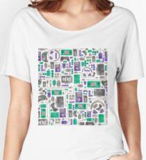 Geek/Nerd/Gamer Pattern Women's Relaxed Fit T-Shirt