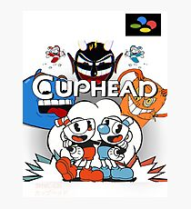 Cuphead Super Famicom Style Photographic Print