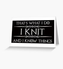 Knitting Gifts for Knitter Greeting Card