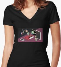 iOS apps Women's Fitted V-Neck T-Shirt