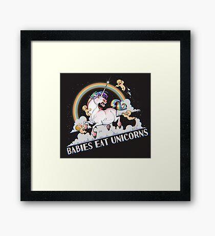 Babies eat Unicorns Framed Print