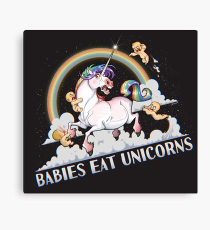 Babies eat Unicorns Canvas Print
