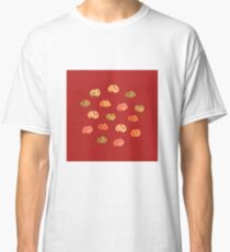 Pumpkins on Firebrick Classic T-Shirt