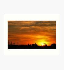 Sunset in Gauteng Art Print