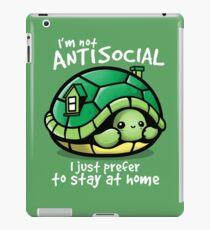 Antisocial turtle iPad Case/Skin
