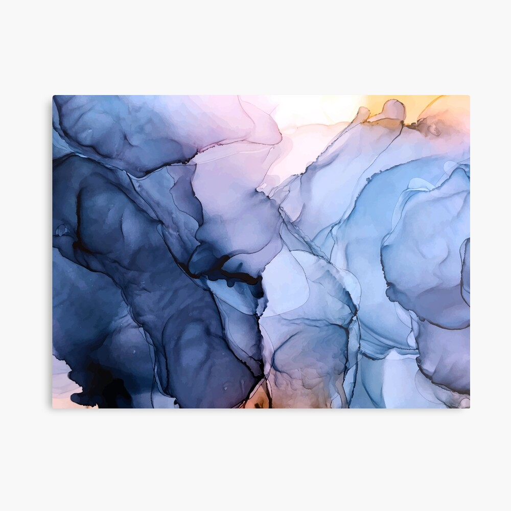 Captivating 1 - Alcohol Ink Painting Metal Print