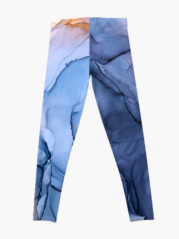 Alternate view of Captivating 1 - Alcohol Ink Painting Leggings