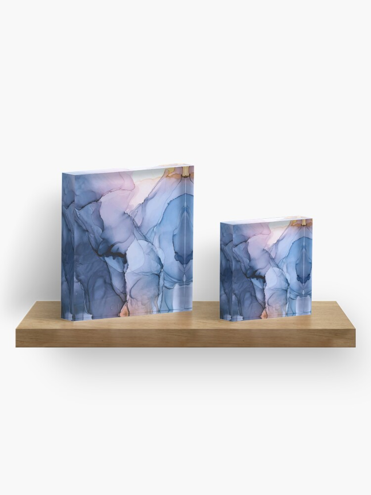 Alternate view of Captivating 1 - Alcohol Ink Painting Acrylic Block