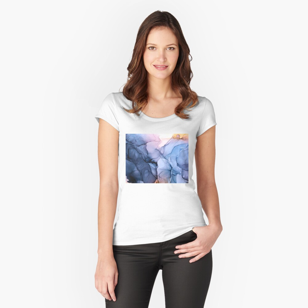 Captivating 1 - Alcohol Ink Painting Fitted Scoop T-Shirt