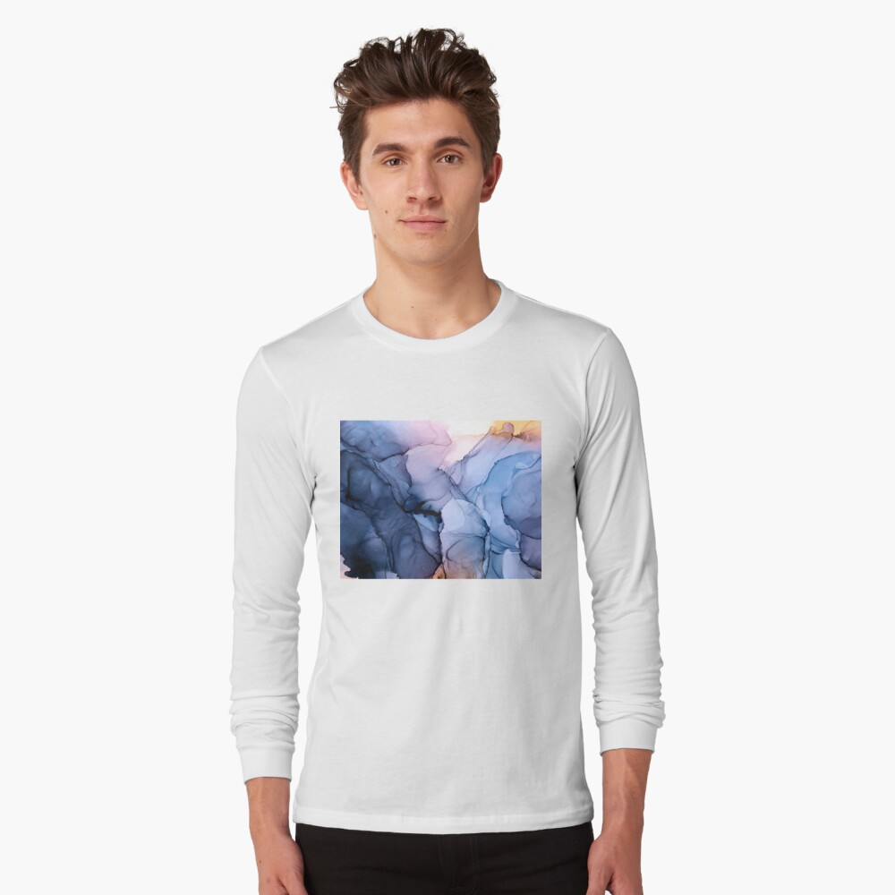 Captivating 1 - Alcohol Ink Painting Long Sleeve T-Shirt