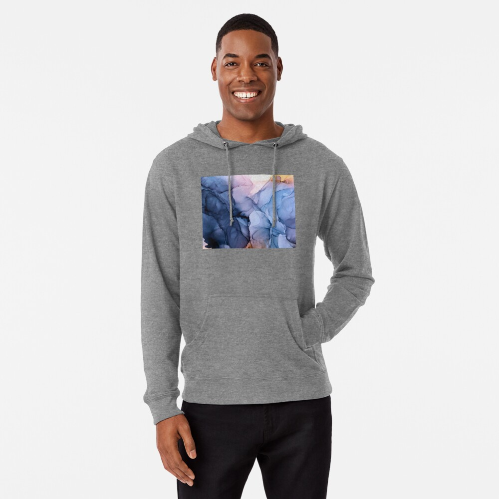 Captivating 1 - Alcohol Ink Painting Lightweight Hoodie