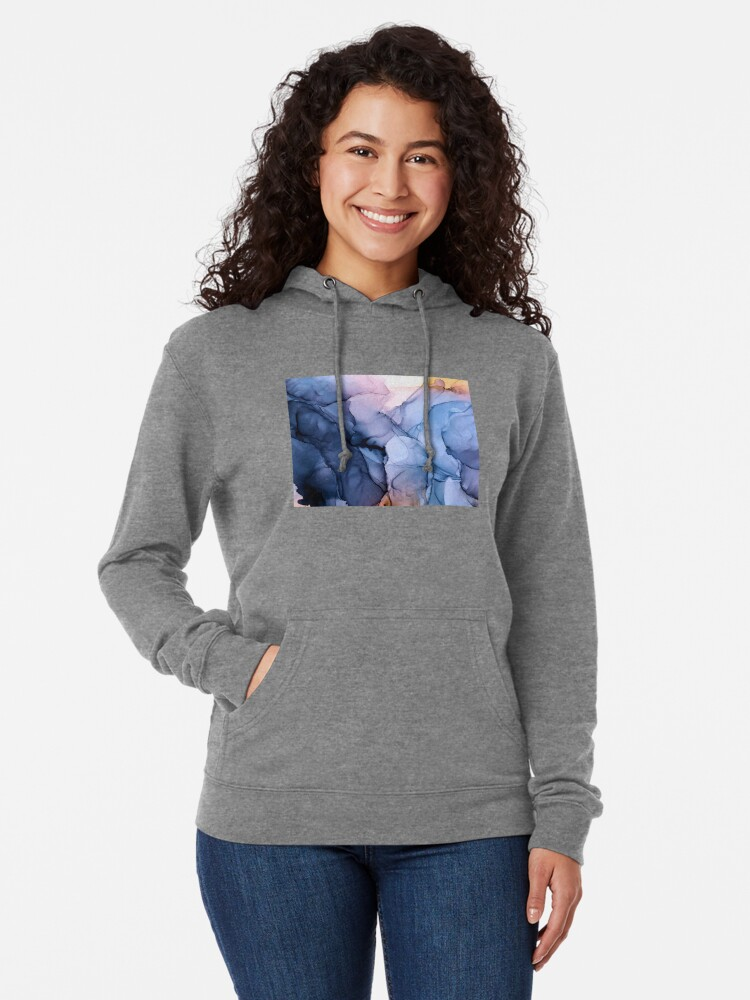 Alternate view of Captivating 1 - Alcohol Ink Painting Lightweight Hoodie