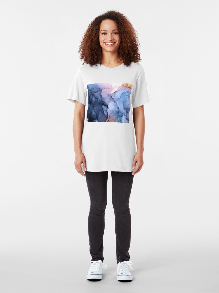 Alternate view of Captivating 1 - Alcohol Ink Painting Slim Fit T-Shirt