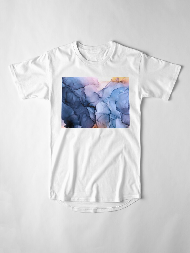 Alternate view of Captivating 1 - Alcohol Ink Painting Long T-Shirt