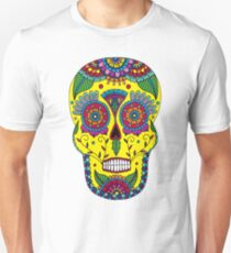 Day of the Dead Skull Yellow T-Shirt