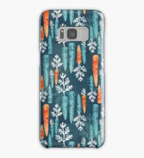 Watercolor carrot repeat Samsung Galaxy Case/Skin