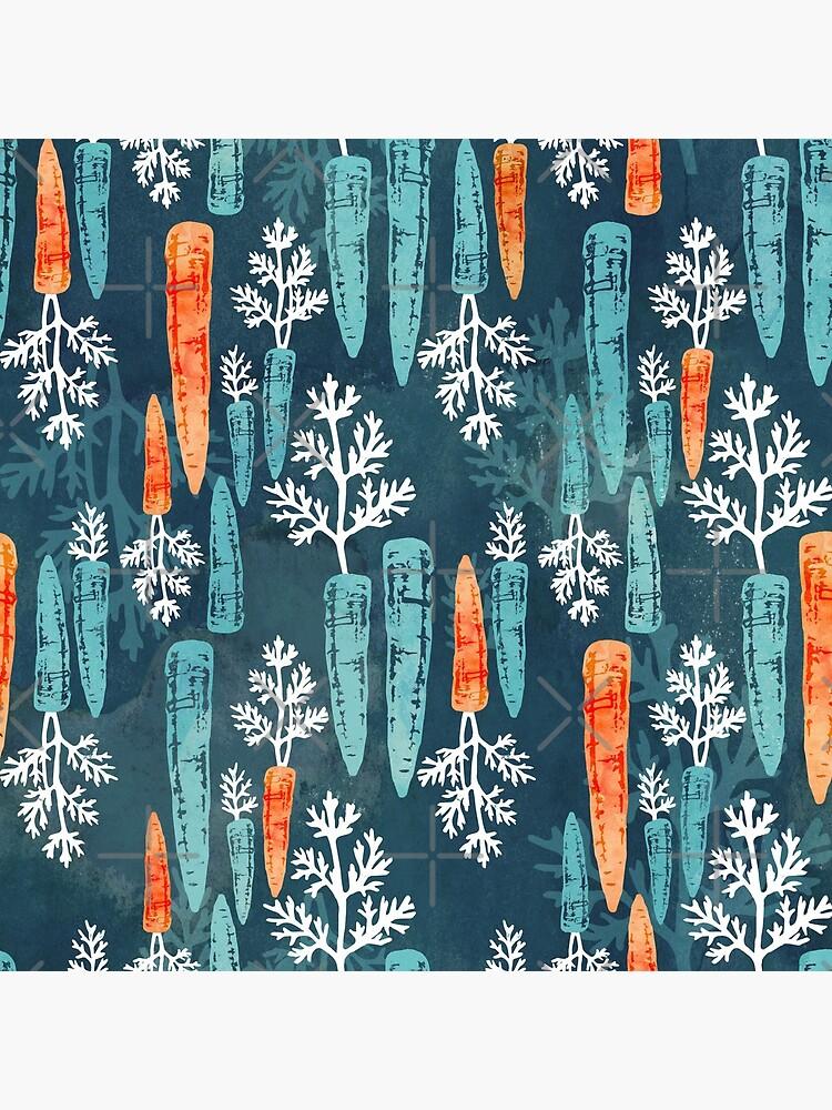 Watercolor carrot repeat by adenaJ