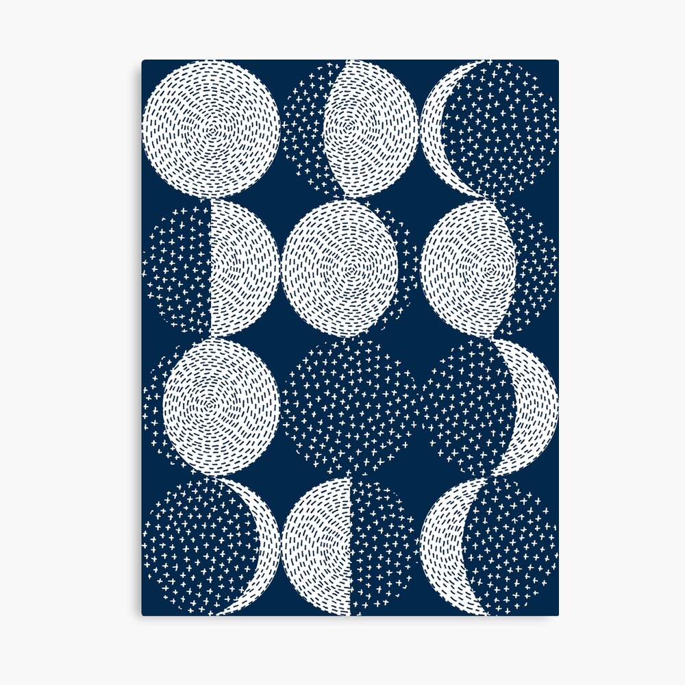 Moon Phases / repeat pattern Canvas Print