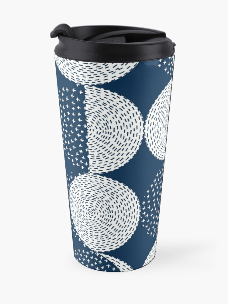 Alternate view of Moon Phases / repeat pattern Travel Mug